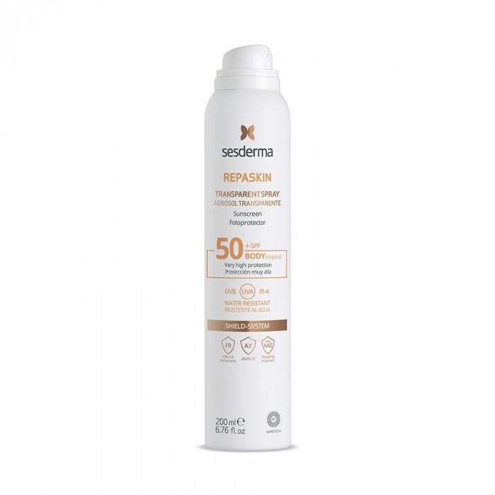 REPASKIN TRANSPARENT SPRAY Body sunscreen SPF 50 – Спрей солнцезащитный прозрачный для тела СЗФ 50, 200 мл (Aerosol)